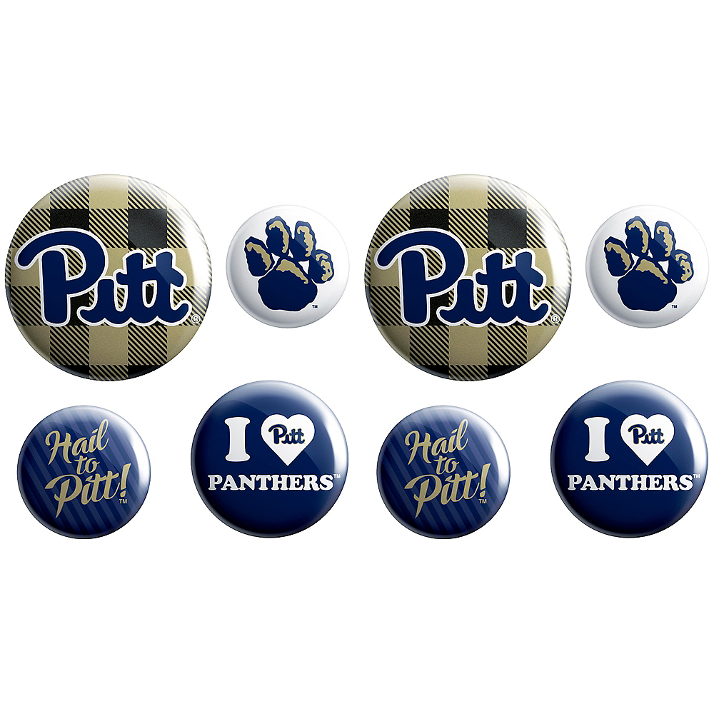 Pittsburgh Panthers Buttons 8ct Image #1