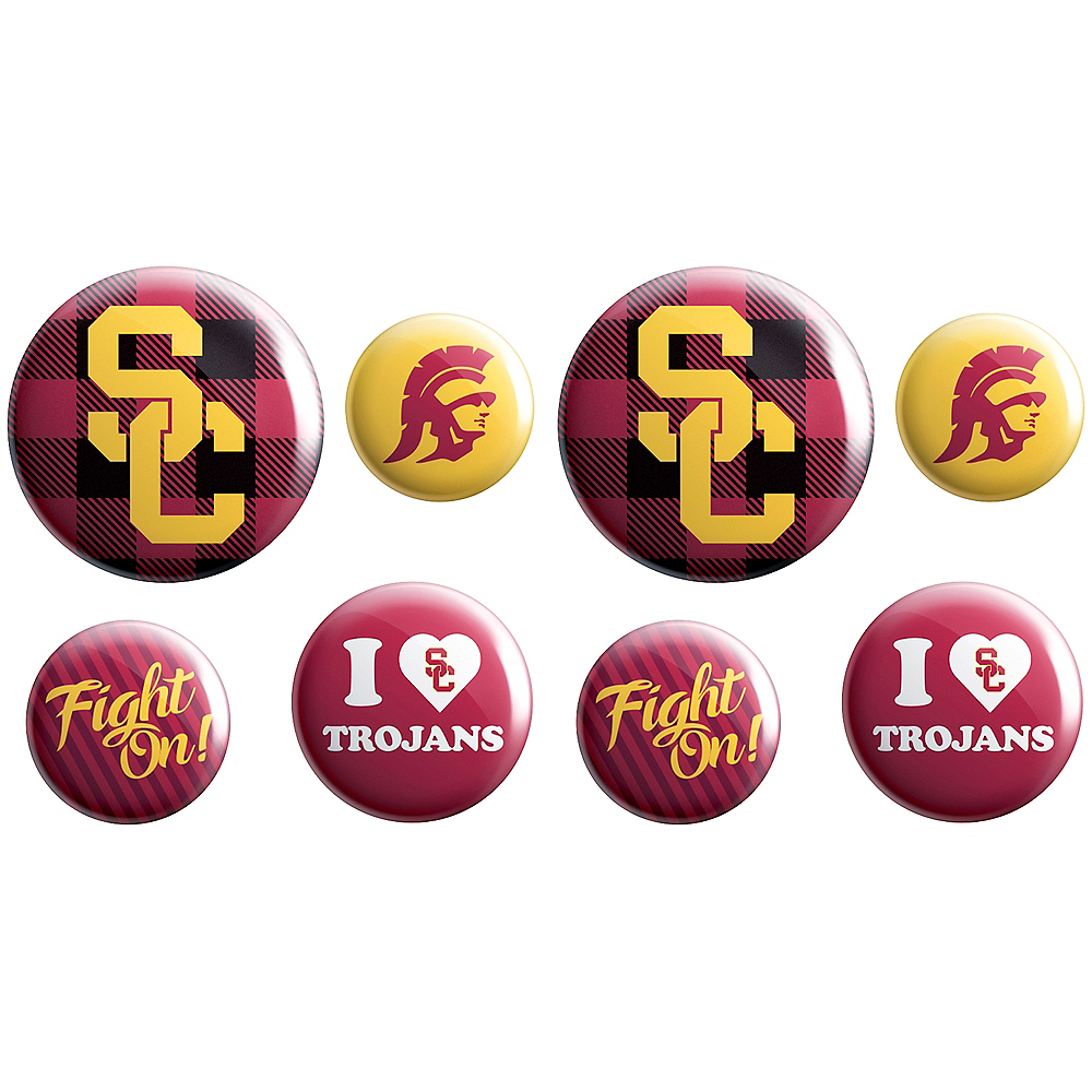 Nav Item for USC Trojans Buttons 8ct Image #1