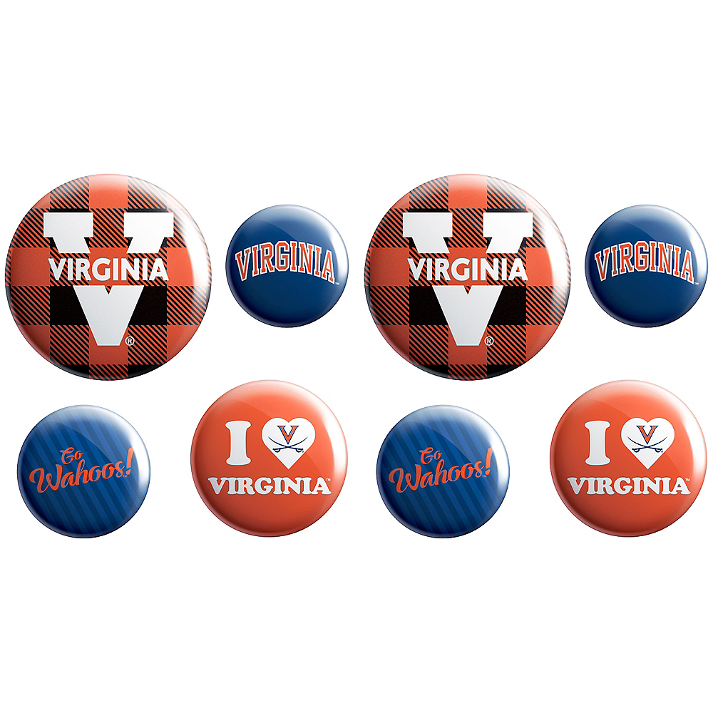 Virginia Cavaliers Buttons 8ct Image #1