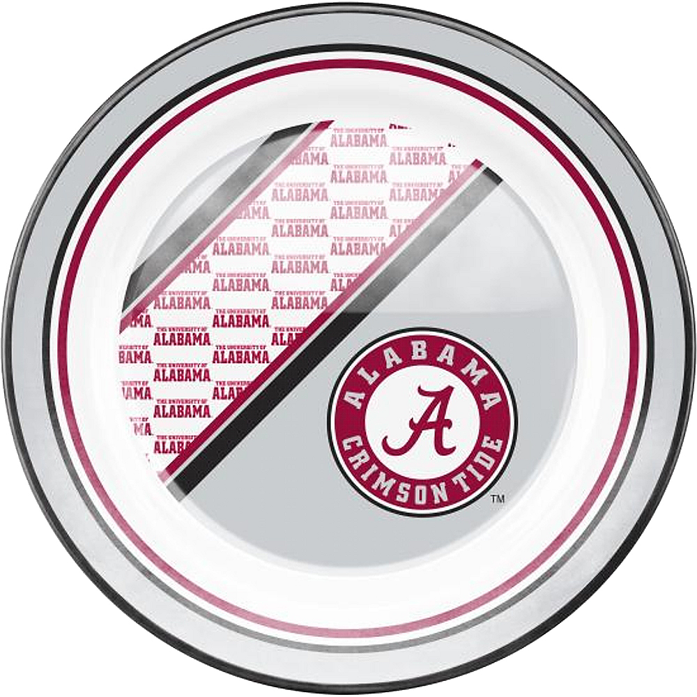 Alabama Crimson Tide Plastic Dinner Plate Image #1