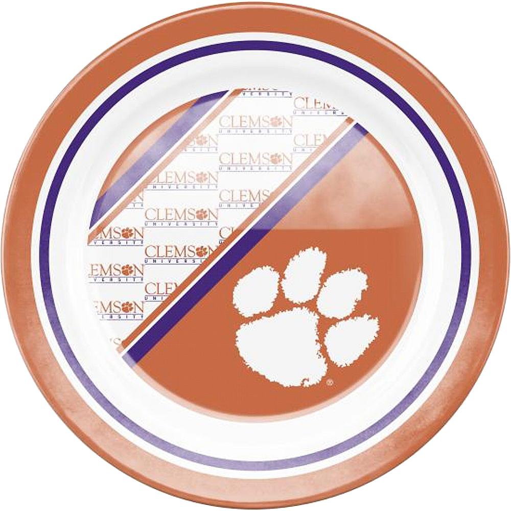 Clemson Tigers Plastic Dinner Plate Image #1