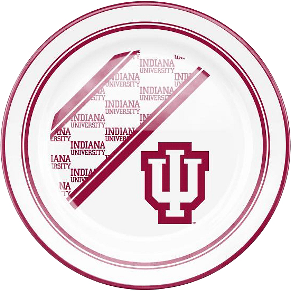 Nav Item for Indiana Hoosiers Plastic Dinner Plate Image #1