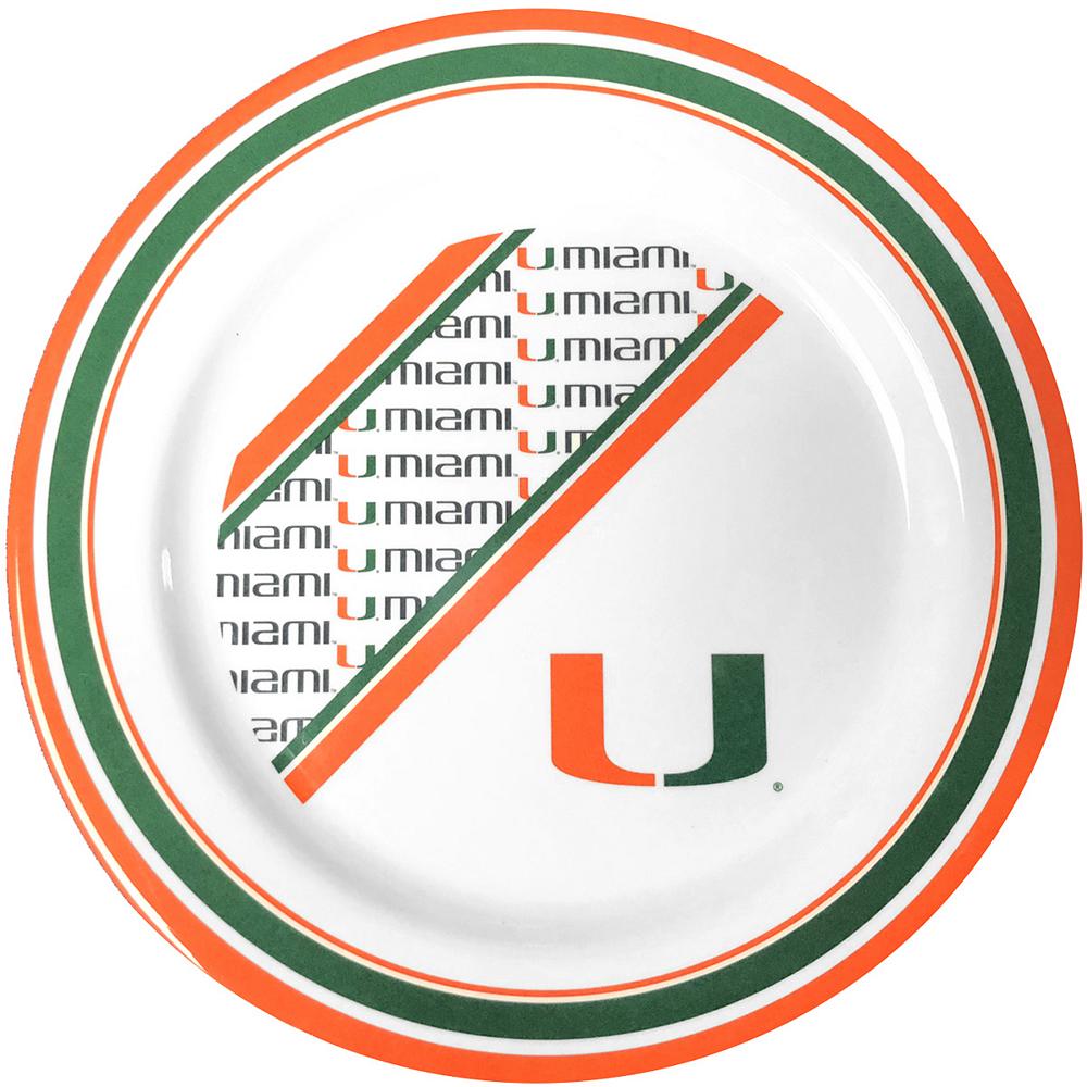 Miami Hurricanes Plastic Dinner Plate Image #1