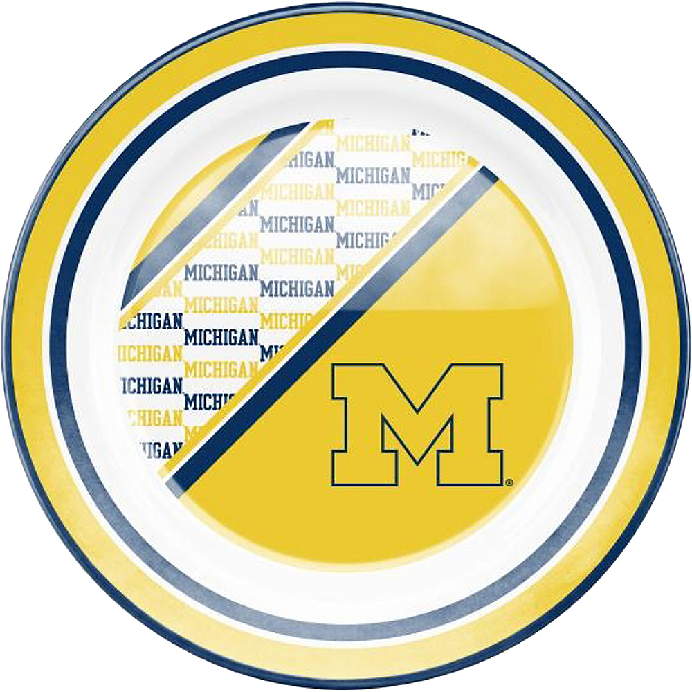 Michigan Wolverines Plastic Dinner Plate Image #1