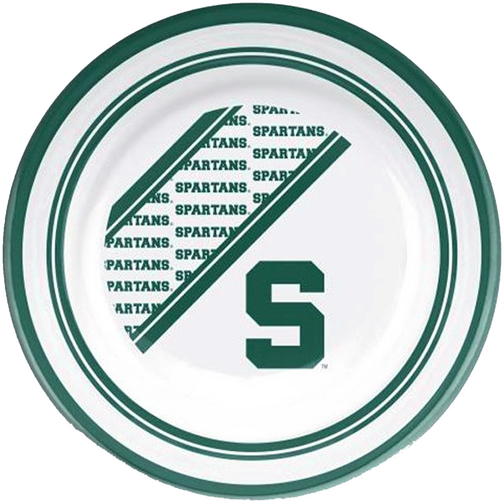Michigan State Spartans Plastic Dinner Plate Image #1