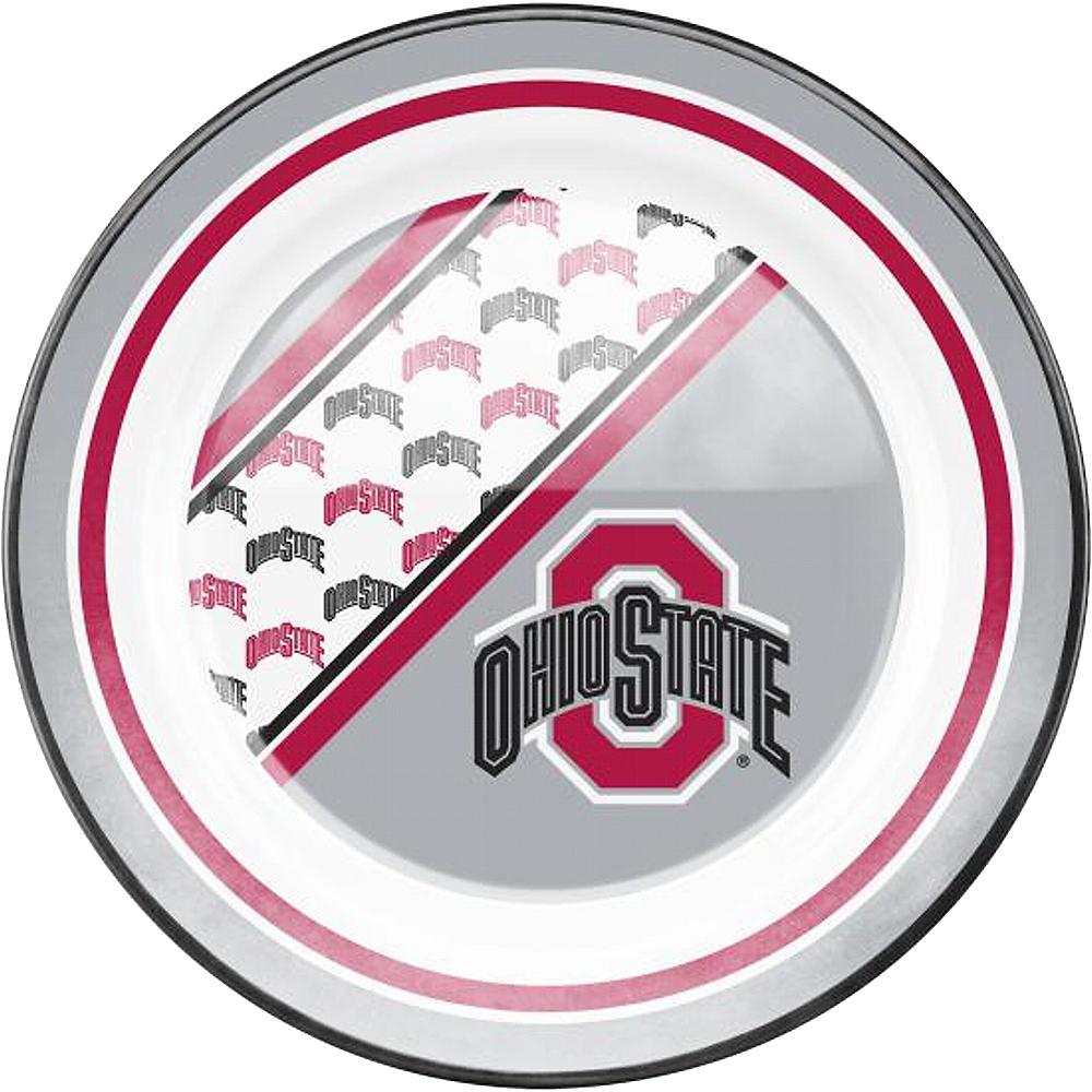Ohio State Buckeyes Plastic Dinner Plate Image #1