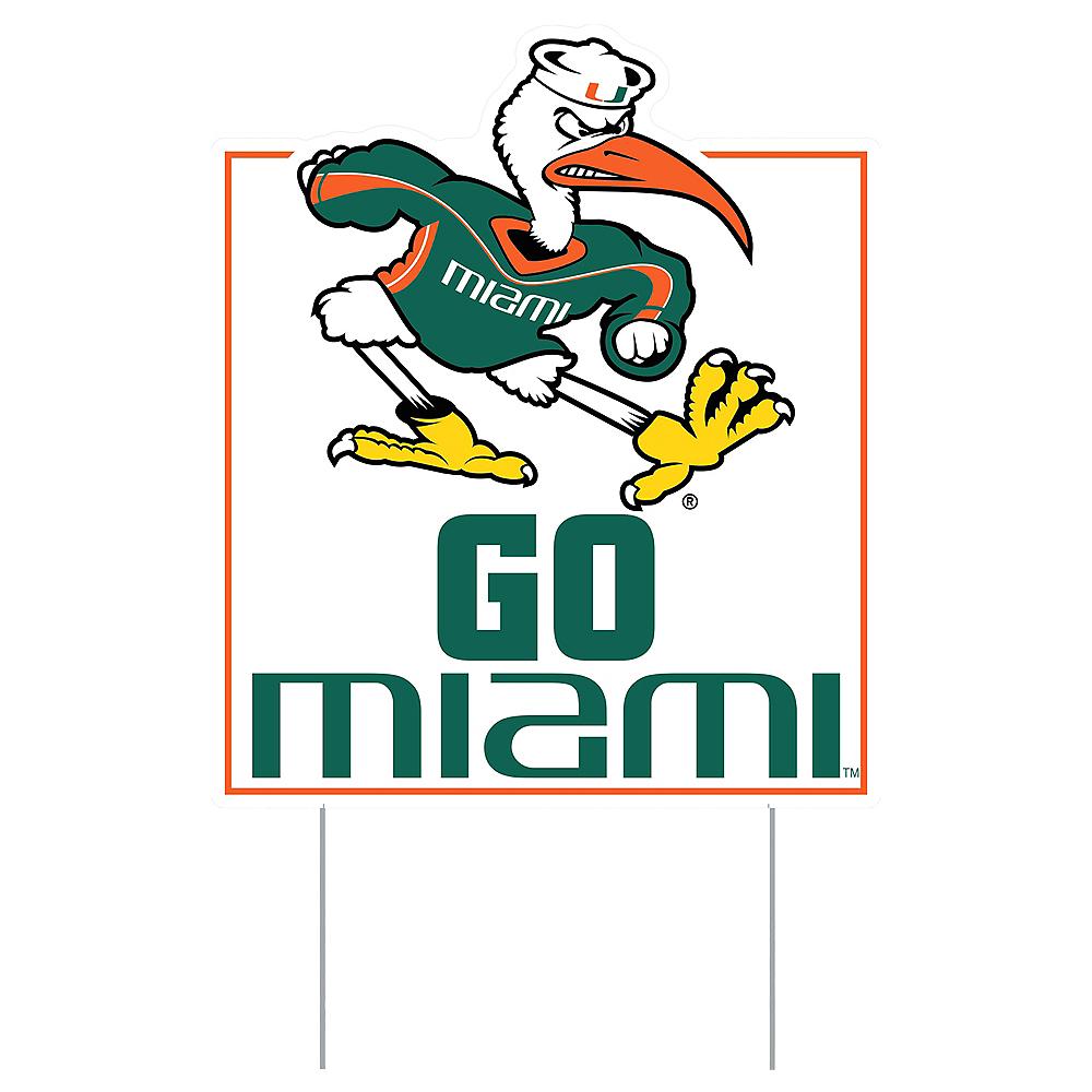 Miami Hurricanes Lawn Sign Image #1