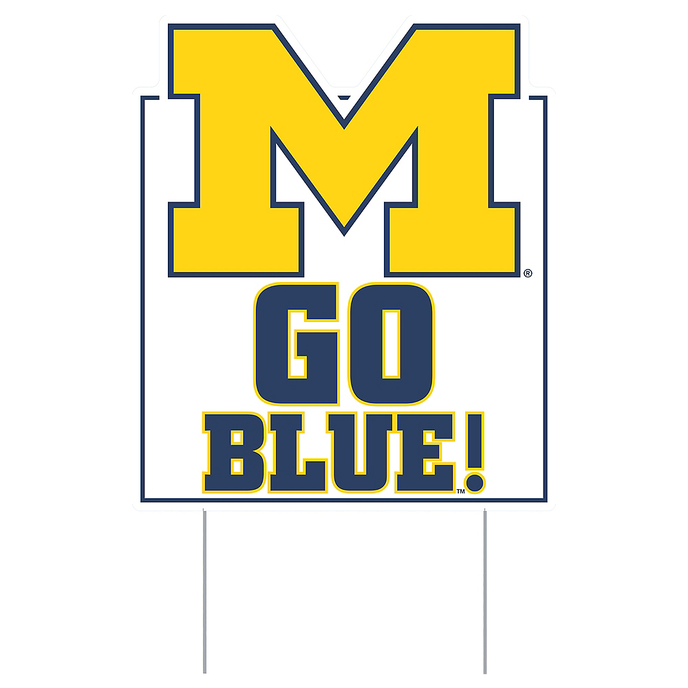 Michigan Wolverines Lawn Sign Image #1