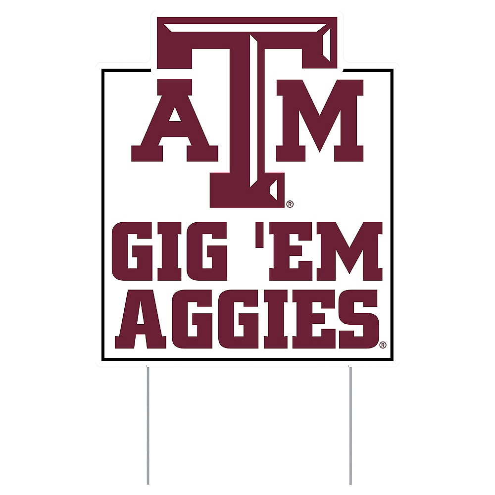 Texas A&M Aggies Lawn Sign Image #1