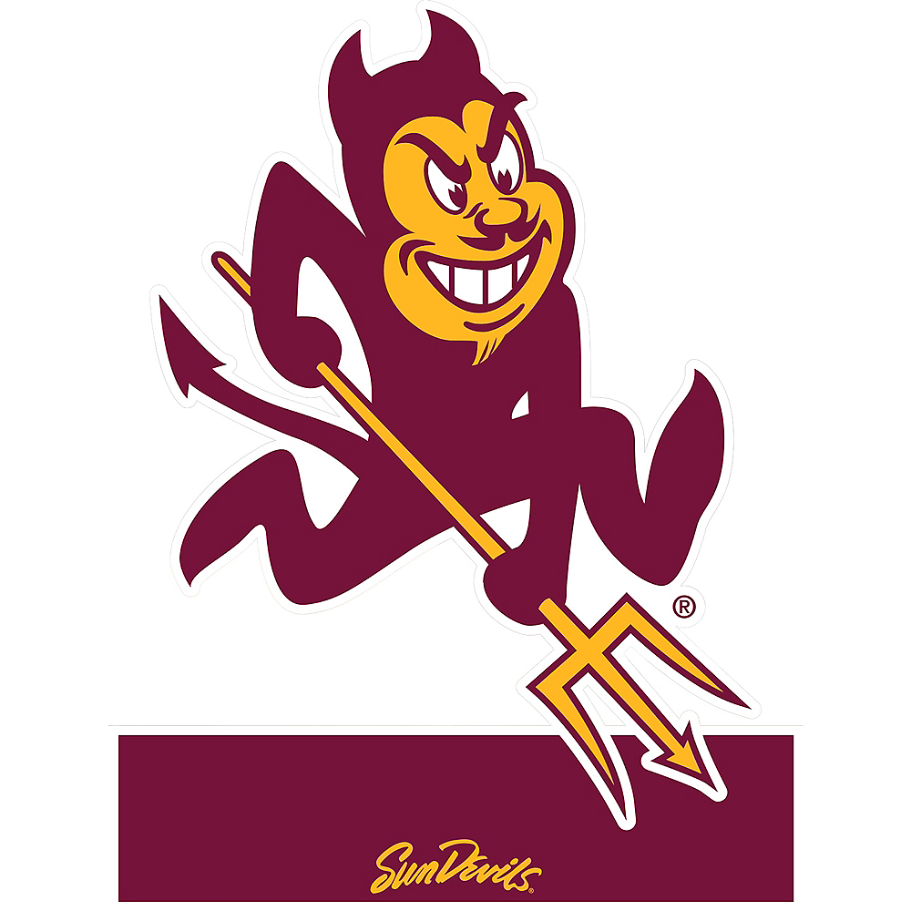 b9ad5872ee43f3 Arizona State Sun Devils Mascot Table Sign 7 1/2in x 8in | Party City