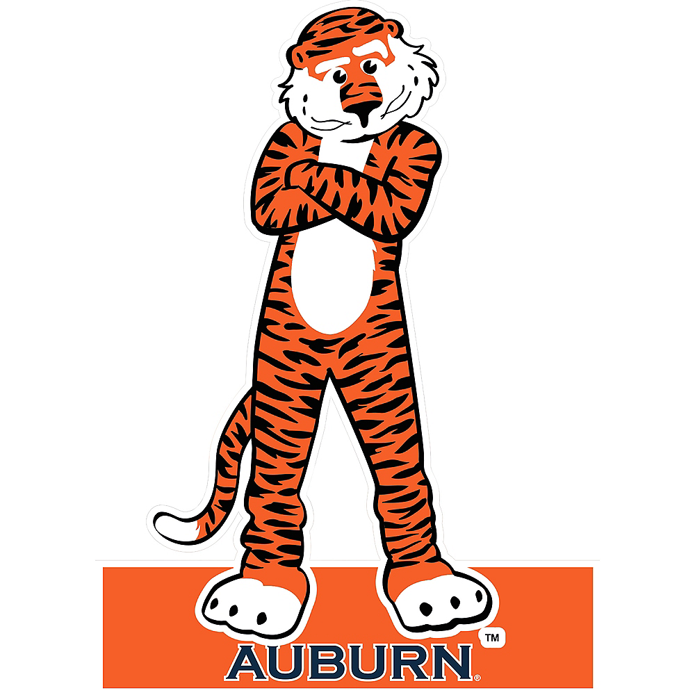 Auburn Tigers Mascot Table Sign Image #1