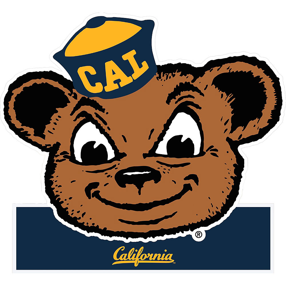 cal bears mascot table sign 7 1 2in x 8in party city
