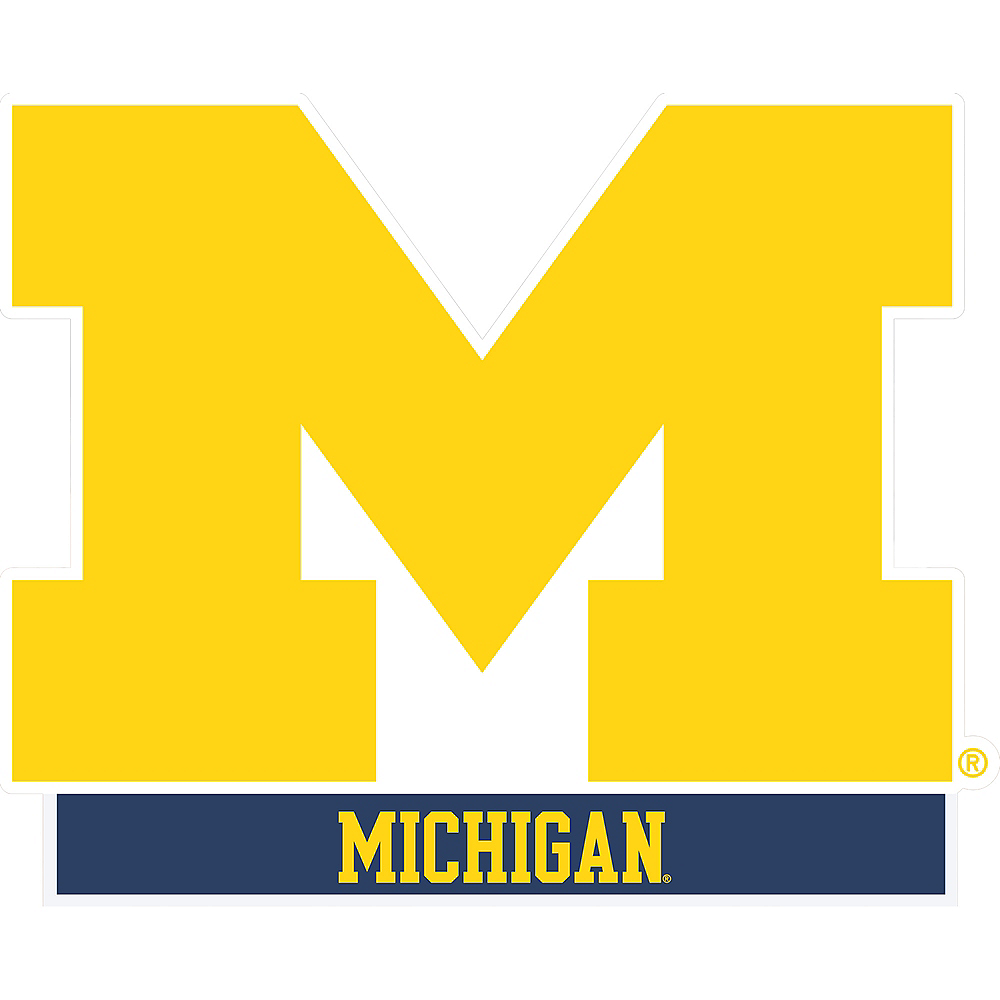 Michigan Wolverines Table Sign Image #1