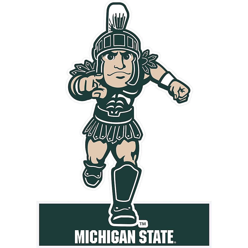 Michigan State Spartans Mascot Table Sign Image #1