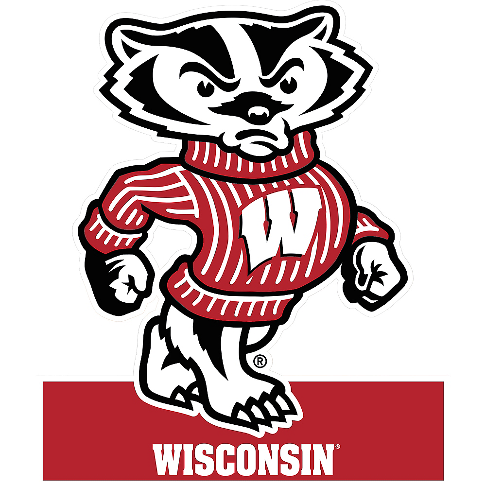 Wisconsin Badgers Mascot Table Sign Image #1