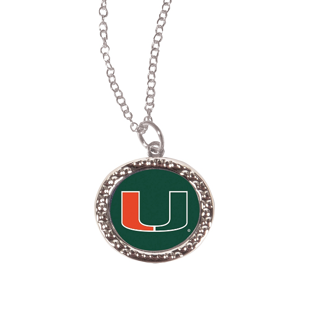 Miami Hurricanes Pendant Necklace Image #1