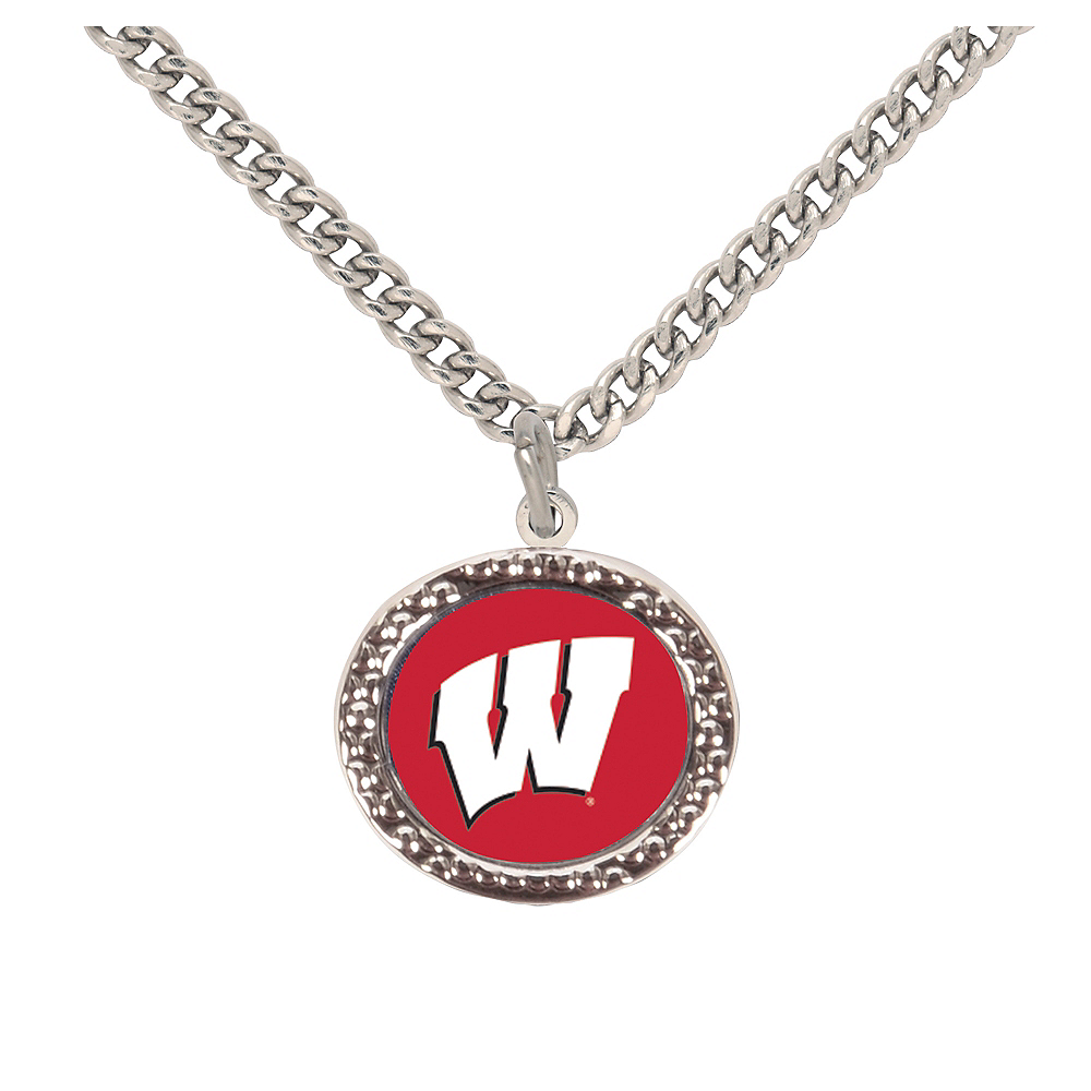 Wisconsin Badgers Pendant Necklace Image #1