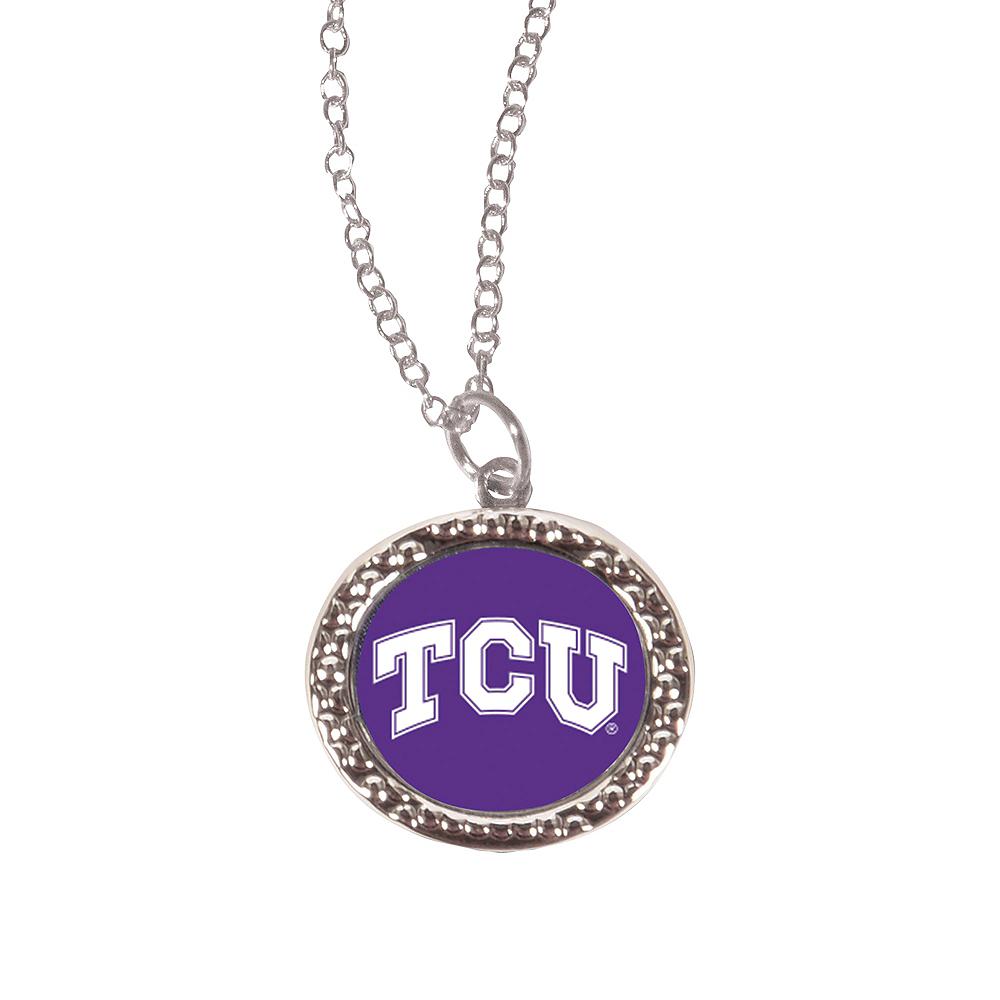 TCU Horned Frogs Pendant Necklace Image #1