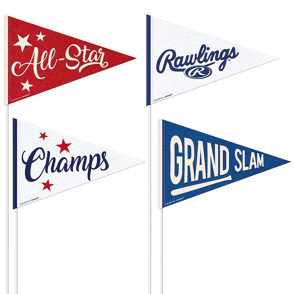 Rawlings Baseball Mini Pennants 4ct Image #1