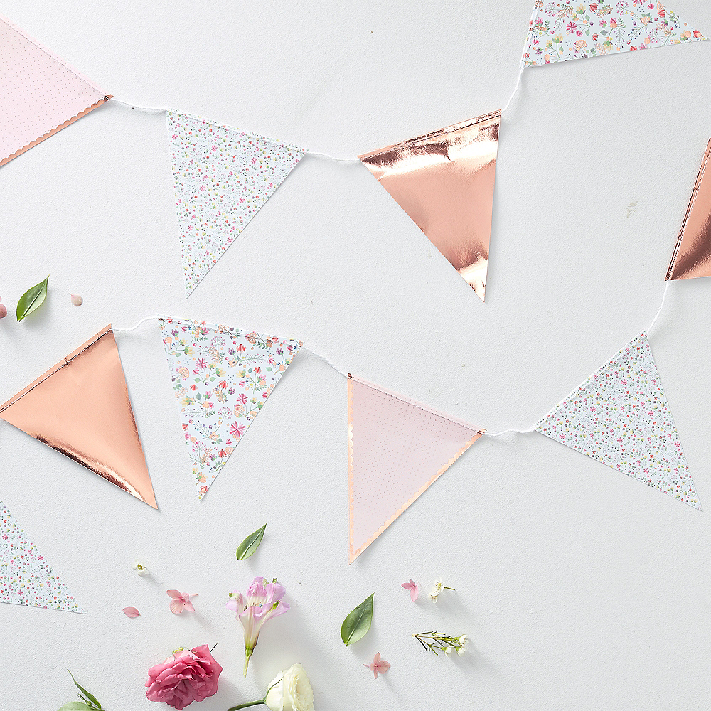 Nav Item for Ginger Ray Floral & Rose Gold Pennant Banner Image #2