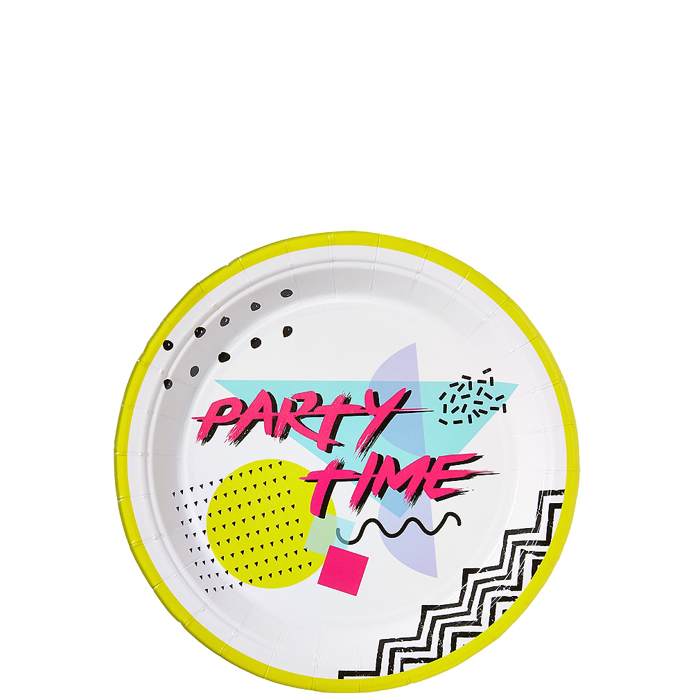 90s Party Time Dessert Plates 8ct Image #1