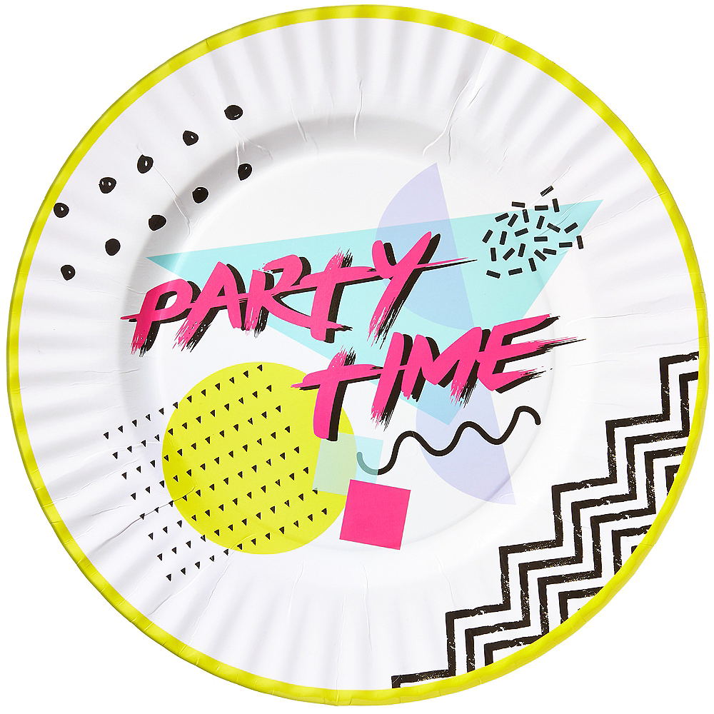 90s Party Time Dinner Plates 8ct Image #1