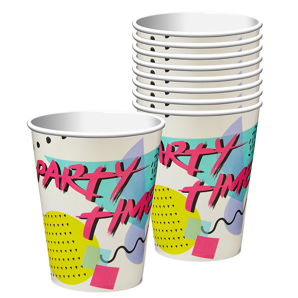 90s Party Time Cups 8ct Image #1