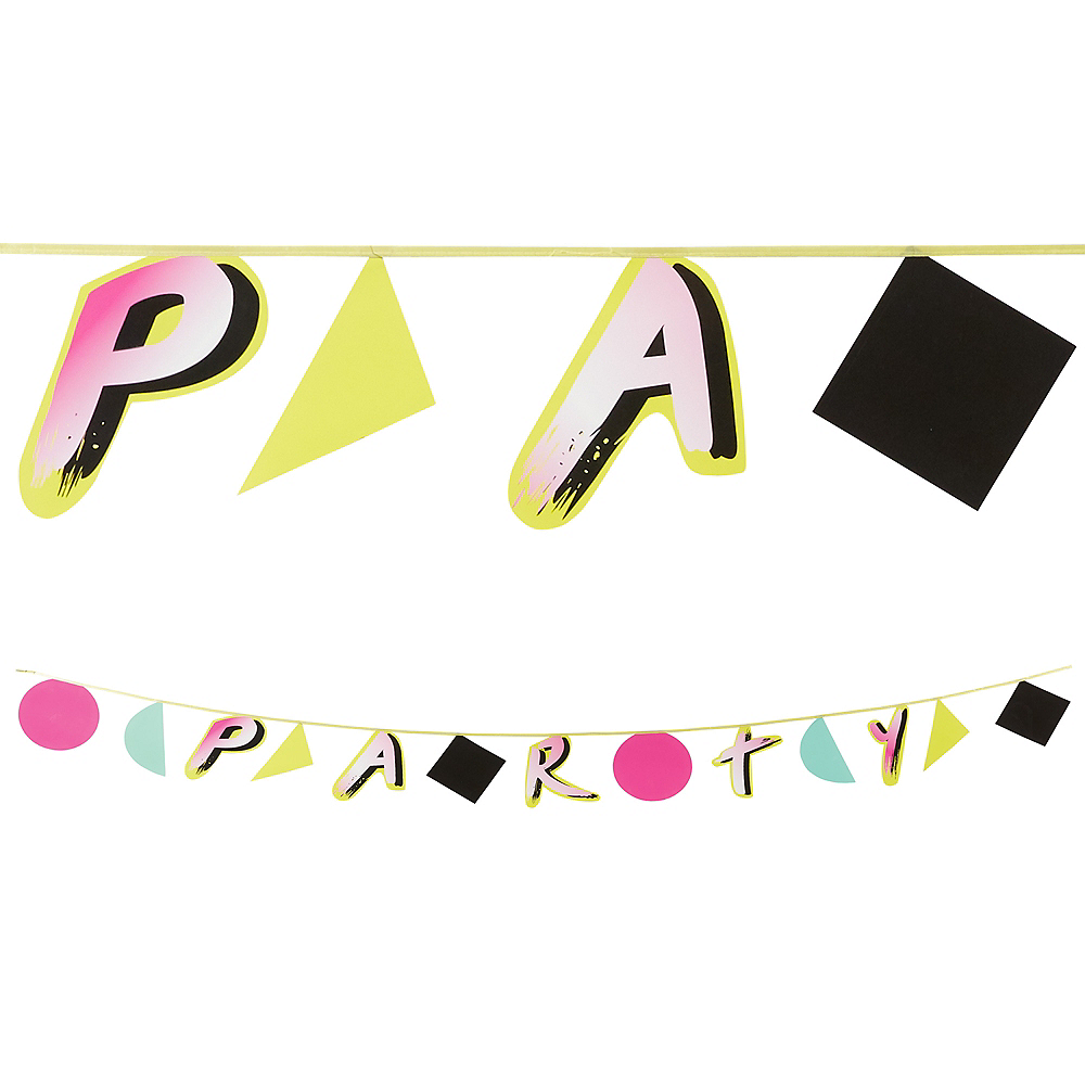 90s Party Time Letter Banner Image #1