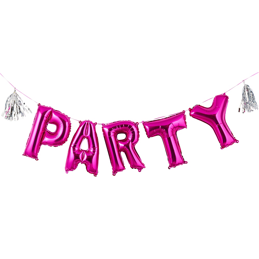 90s Party Time Air-Filled Party Letter Balloon Kit 5ct Image #1