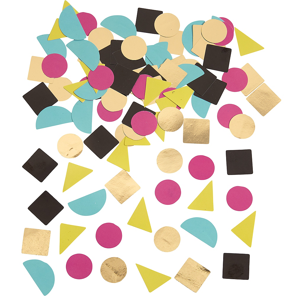 90s Party Time Geometric Table Scatter Image #1