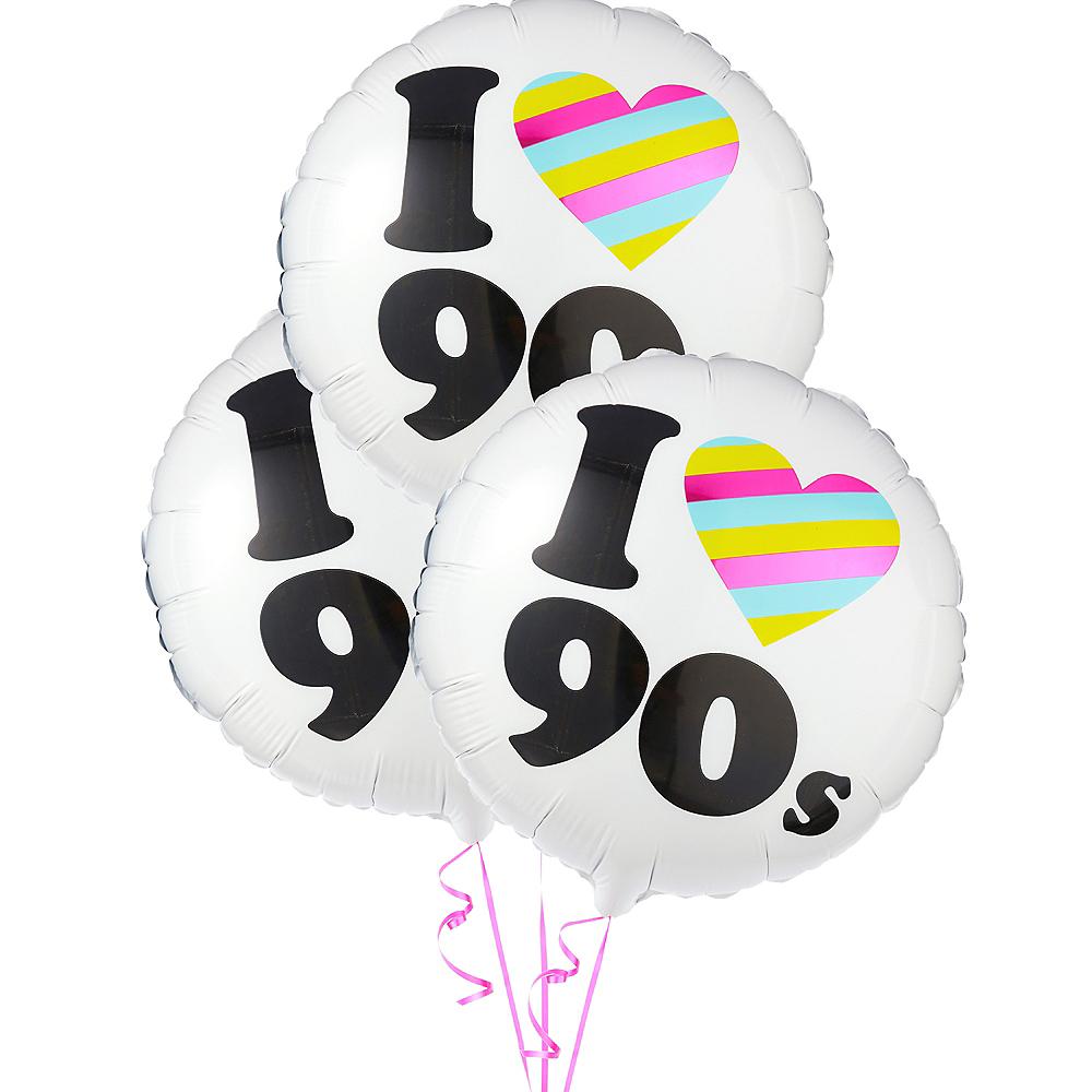 I Heart 90s Balloons 3ct Image #1