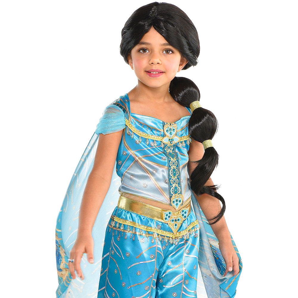 Child Jasmine Ponytail Wig - Aladdin Image #1
