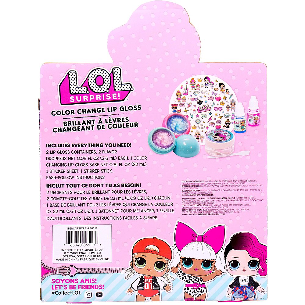 L.O.L. Surprise! Color Change Lip Gloss Kit Image #4