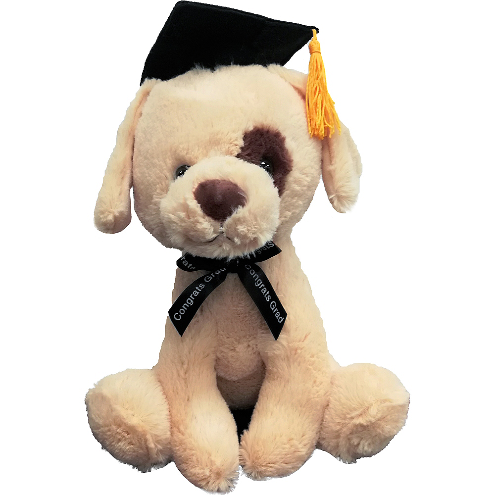 Brown Graduation Dog Plush Image #1
