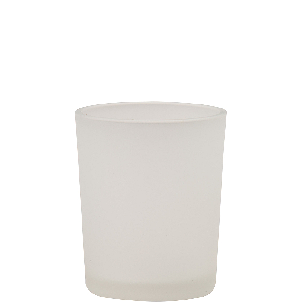 Frosted Glass Votive Candle Holders 12ct Image #1