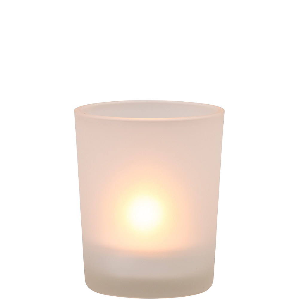 Frosted Glass Votive Candle Holders 12ct Image #2