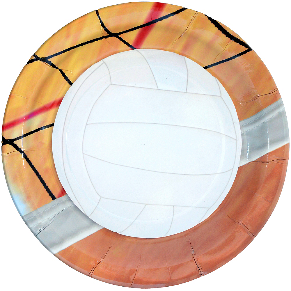 Volleyball Lunch Plates 8ct Image #1