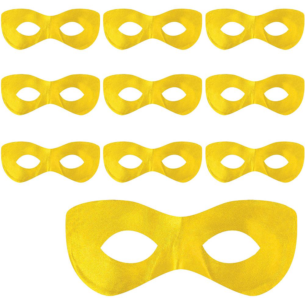 Yellow Domino Mask 10ct Image #1