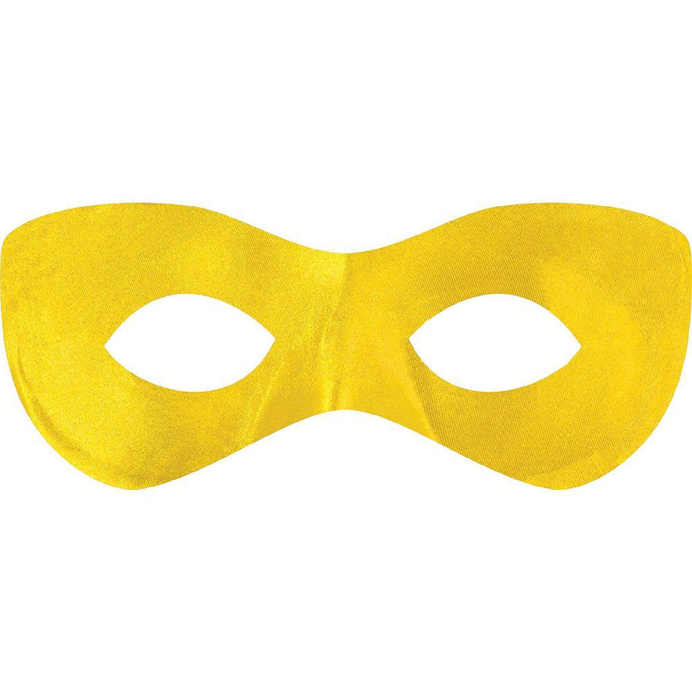 Yellow Domino Mask 10ct Image #2