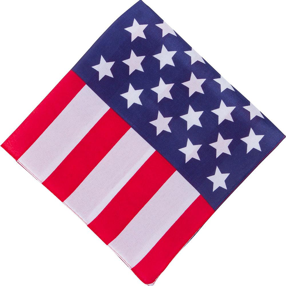 American Flag Bandana 10ct Image #2