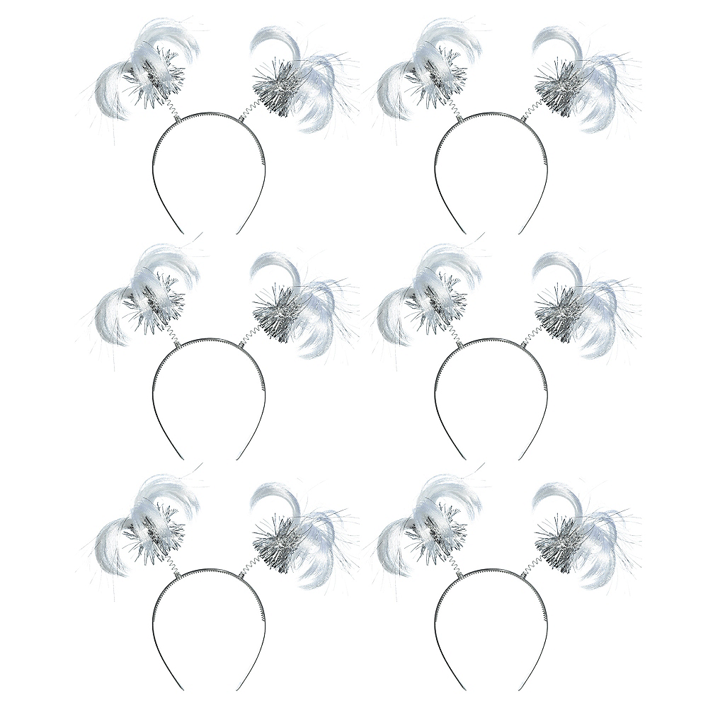 Silver Ponytail Head Bopper 10ct Image #1