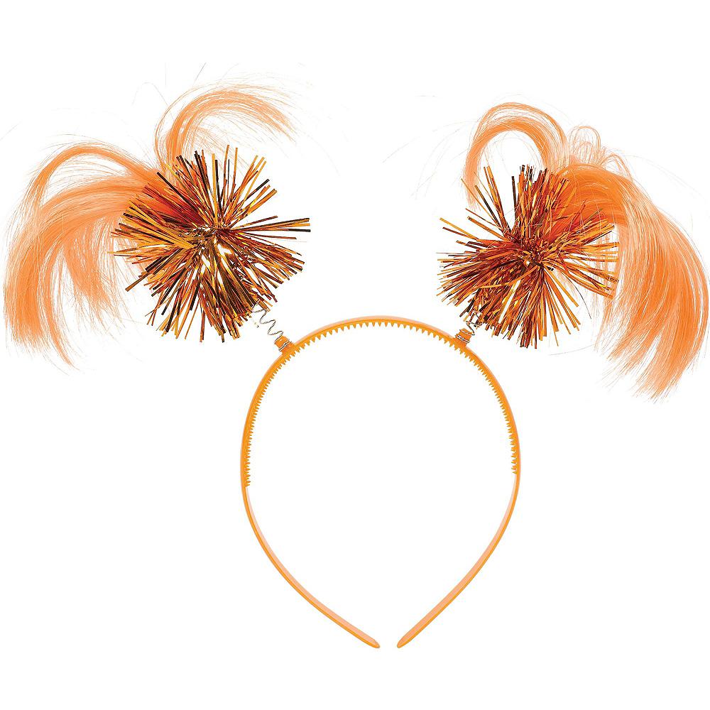 Orange Ponytail Head Bopper 10ct Image #2