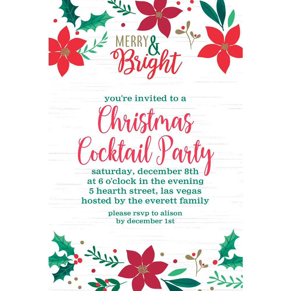 Custom Christmas Wishes Invitations Image #1