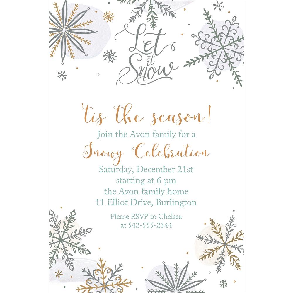 custom shining snow invitations party city