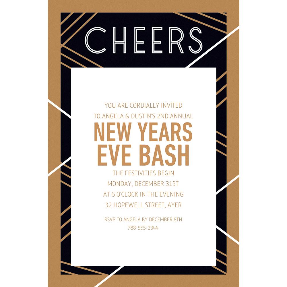 Custom Art Deco Cheers Invitations Image #1