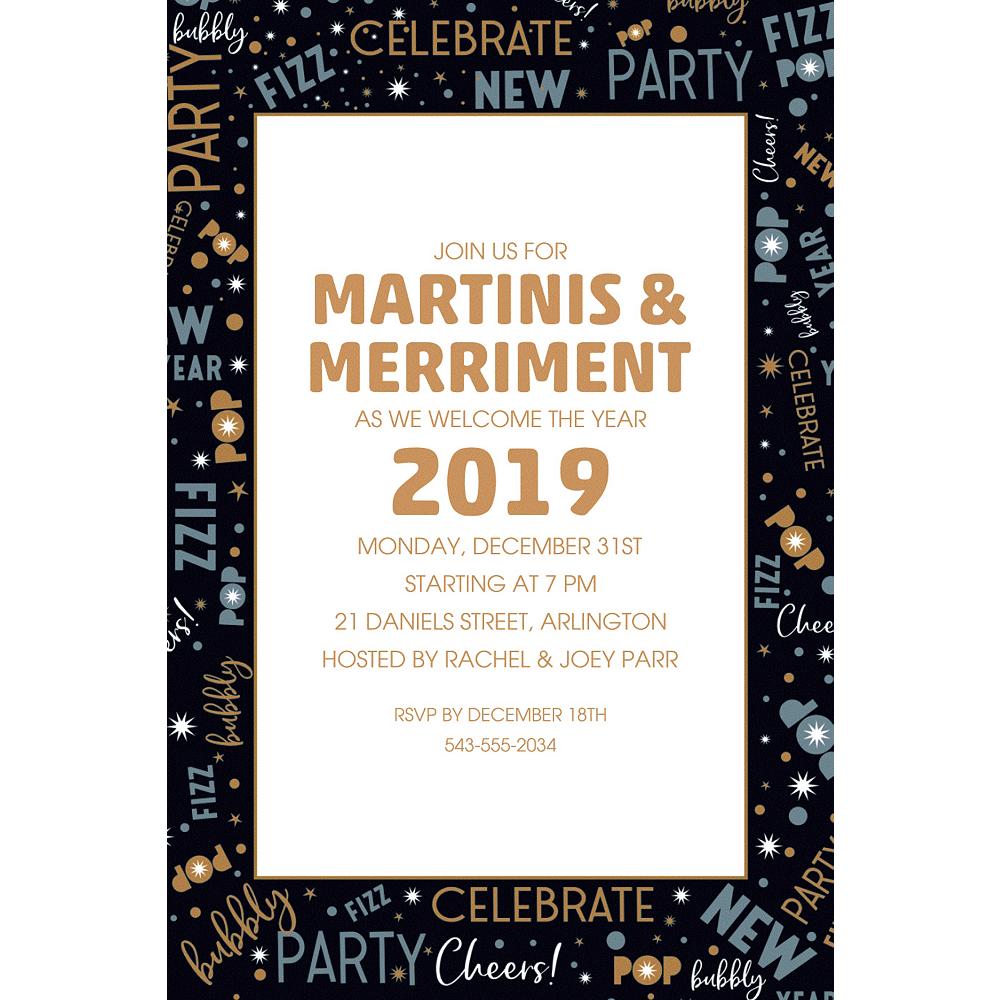 Custom Celebrate New Years Invitations Image #1