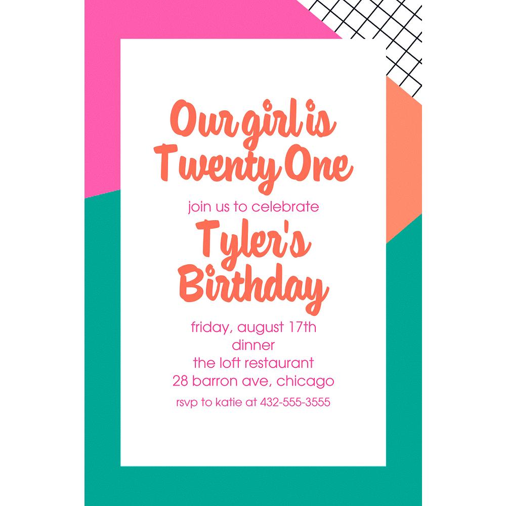 Custom Young & Fab Invitations Image #1