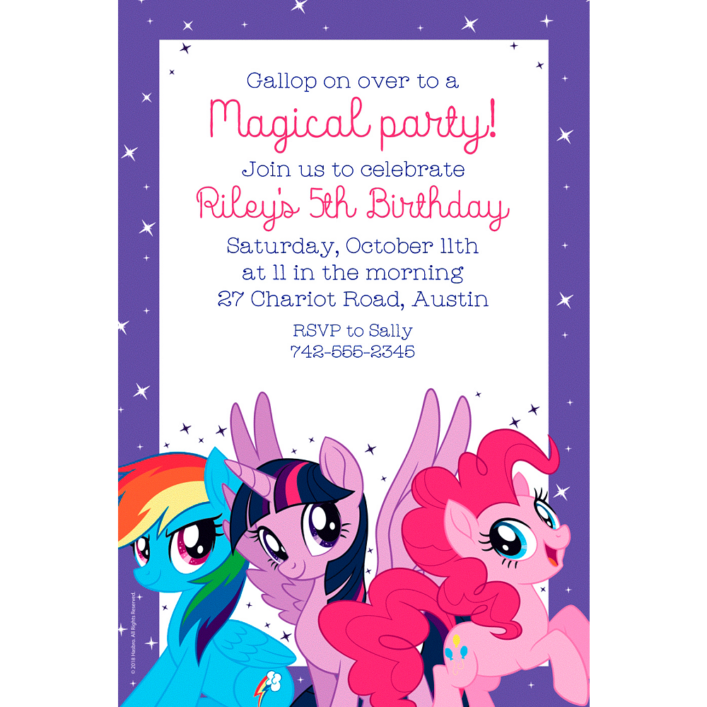 Custom My Little Pony Invitations | Party City