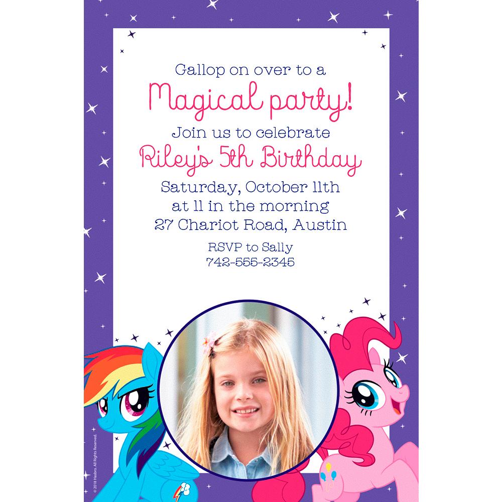 Custom My Little Pony Photo Invitations Image 1