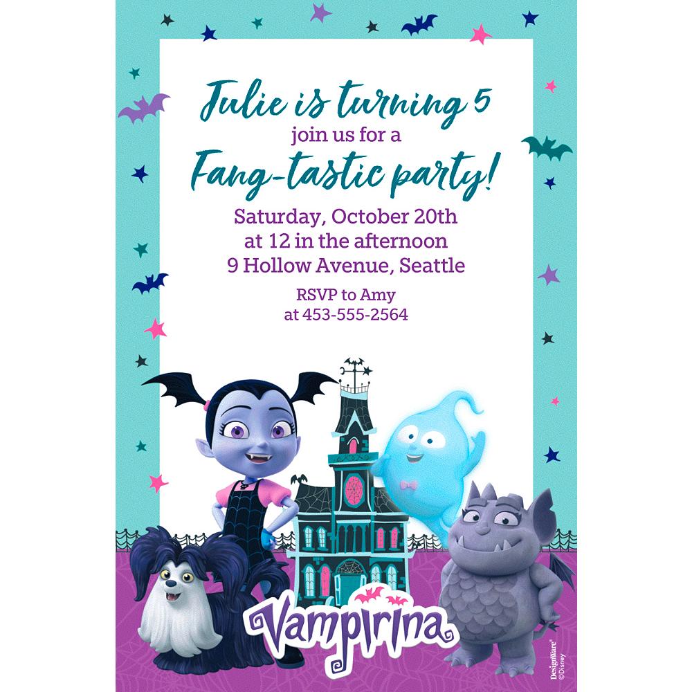 Custom Vampirina Invitations Image 1